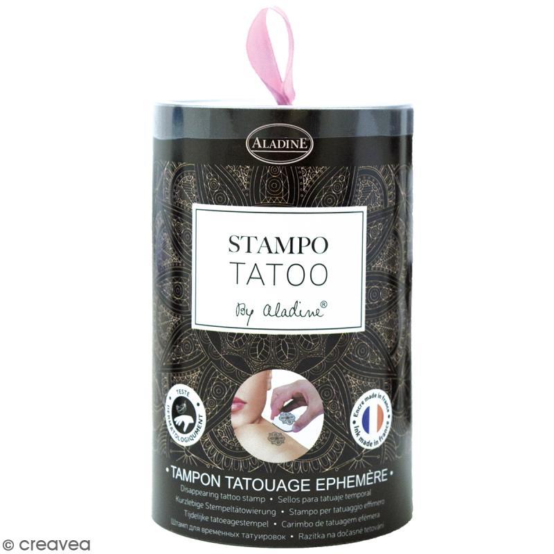 Stampo Tatoo - Kit de tampons avec encreur - Ethnique - 10 motifs - Photo n°1