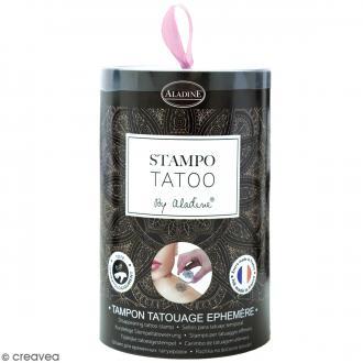 Stampo Tatoo - Kit de tampons avec encreur - Ethnique - 10 motifs