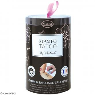 Stampo Tatoo - Kit de tampons avec encreur - Romantique - 14 motifs