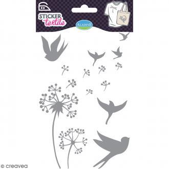 Stickers textile thermocollants Aladine - Pissenlits pailletés - De 2 à 9,5 cm