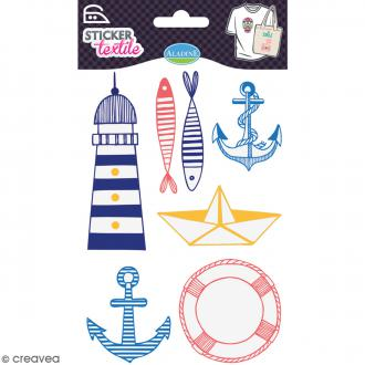 Stickers textile thermocollants Aladine - Marin - De 5 à 9,7 cm
