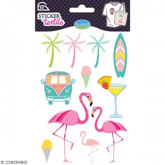 Stickers textile thermocollants Aladine - Florida - De 2,7 à 5,5 cm