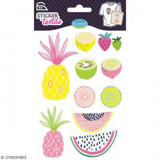 Stickers textile thermocollants Aladine - Fruits - De 2 à 8,6 cm