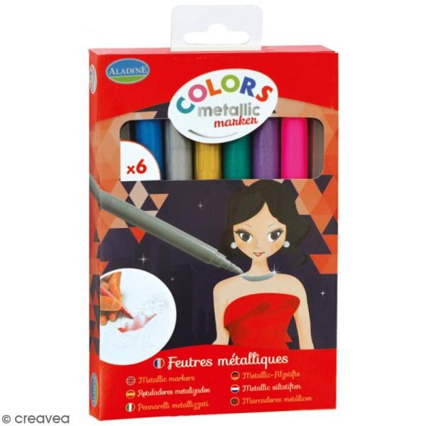 Marqueurs Colors Metallic Marker - Metallic - 6 pcs - Photo n°1