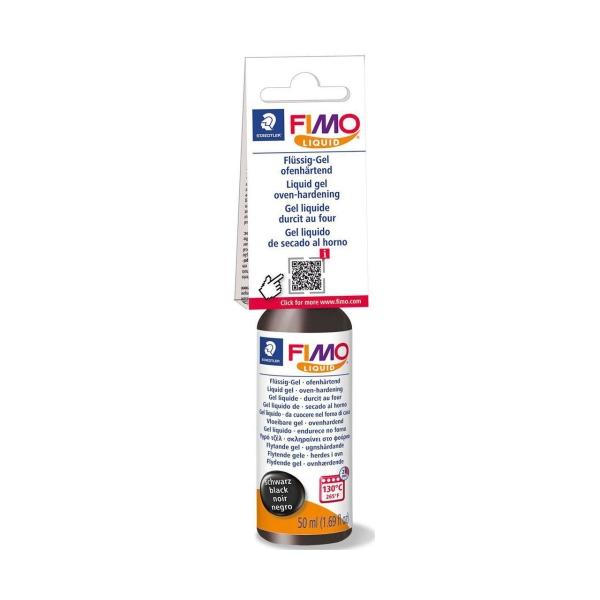 La FIMO Liquide Déco Gel Noire 50ml, Bricolage à la Main, des Fournitures d'Artisanat, modelage en A - Photo n°1