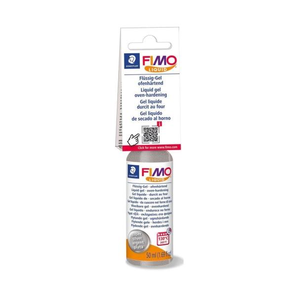 La FIMO Liquide Déco Gel d'Argent 50ml, Bricolage à la Main, des Fournitures d'Artisanat, modelage e - Photo n°1