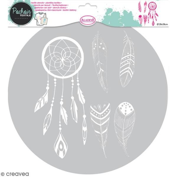 Pochoir textile en Plastique - Attrape-rêves - Entre 9,5 et 20 cm - Photo n°1