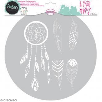 Pochoir textile en Plastique - Attrape-rêves - Entre 9,5 et 20 cm