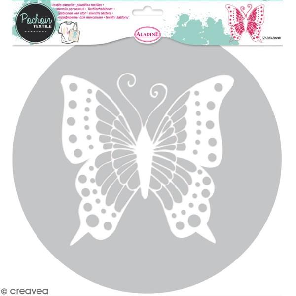 Pochoir textile en Plastique - Papillon - 16 x 17 cm - Photo n°1