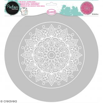 Pochoir textile en Plastique - Mandala - 20 cm