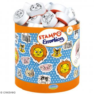 Kit de tampons Stampo Minos - Emotions animaux - 29 pcs