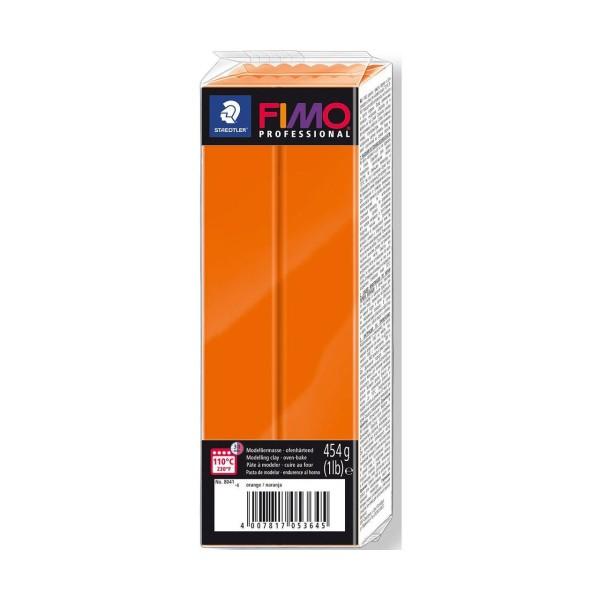 FIMO Professional Orange 454g Bloc d'Argile Tutoriel, Argile, Limon, Argile, de l'Artisanat, le Livr - Photo n°1