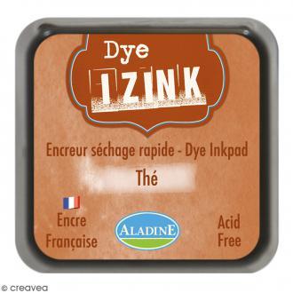 Encreur Izink Dye - Marron thé - 5 x 5 cm