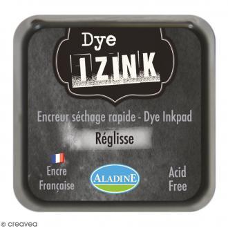 Encreur Izink Dye - Noir réglisse - 5 x 5 cm