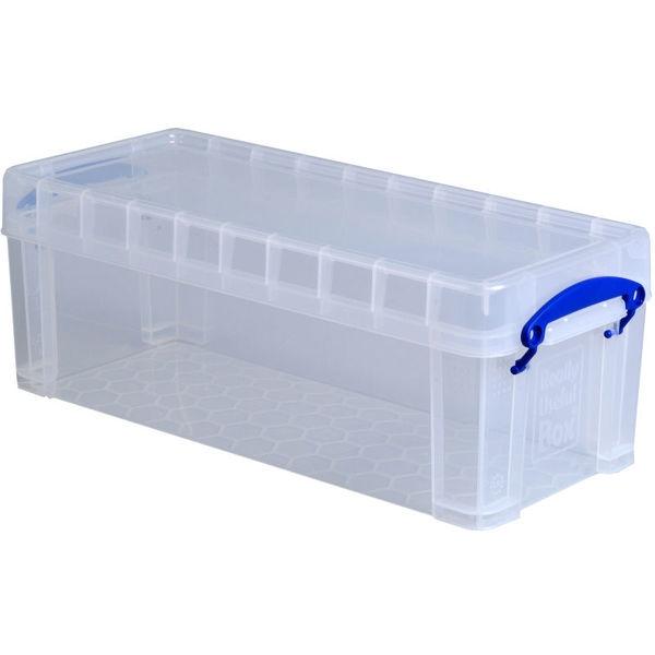 Boîte de rangement 6,5 litres, incolore - Photo n°1