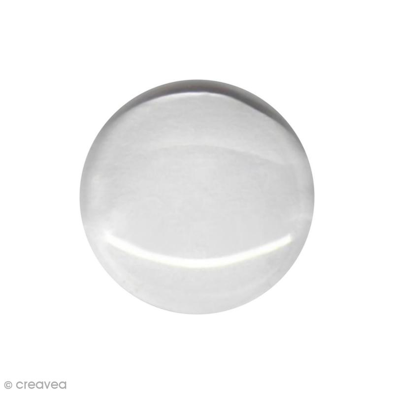 Cabochon en verre - Transparent - 12 mm - Photo n°1