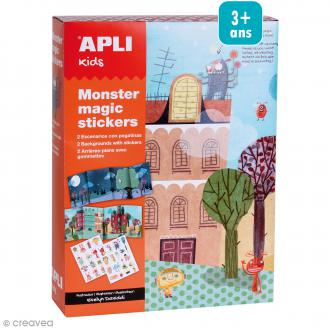 Kit magic stickers - Monstres