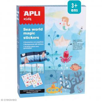 Kit magic stickers - Monde marin