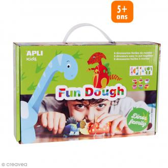 Kit pâte à modeler Apli fun dough - Dinosaures - Dès 3 ans