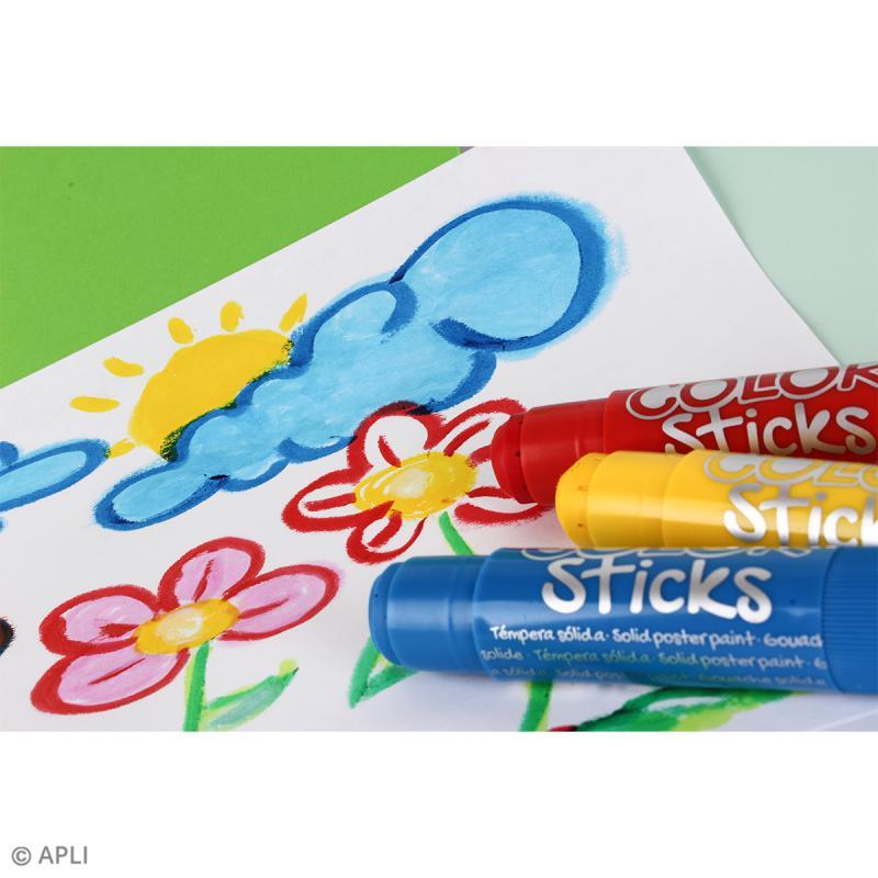 Gouache solide Color Sticks - Assortiment 12 couleurs - Photo n°3