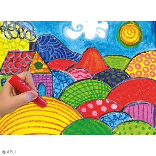 Gouache solide Color Sticks - Assortiment 12 couleurs - Photo n°6