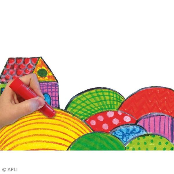 Gouache solide Color Sticks - Assortiment 6 couleurs - Photo n°5