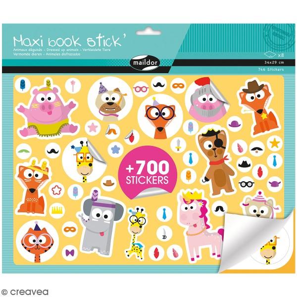 Gommettes Maxi Book Stick - Animaux déguisés - 746 pcs - Photo n°1
