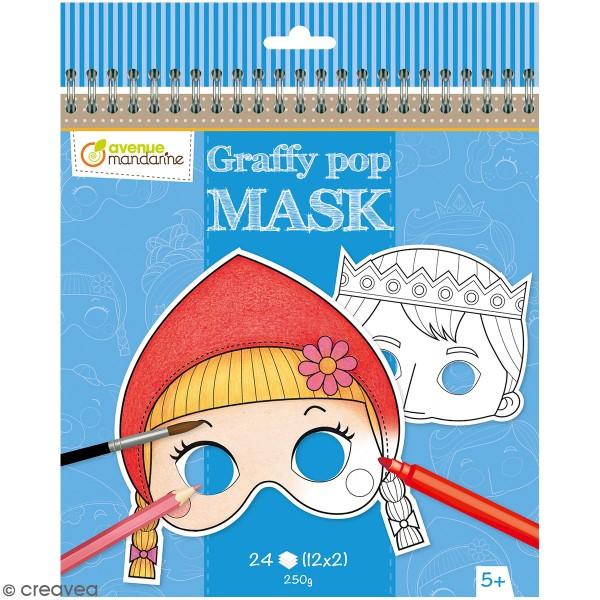 Masques à colorier et à détacher - Contes de Grimm - 24 pages - Photo n°1