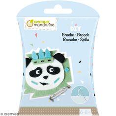 Kit DIY - Broche panda