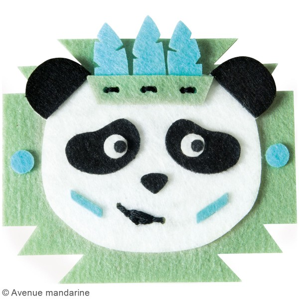 Kit DIY - Broche panda - Photo n°2