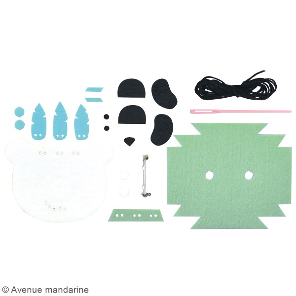 Kit DIY - Broche panda - Photo n°3