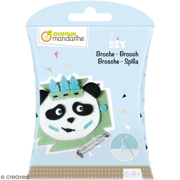 Kit DIY - Broche panda - Photo n°1