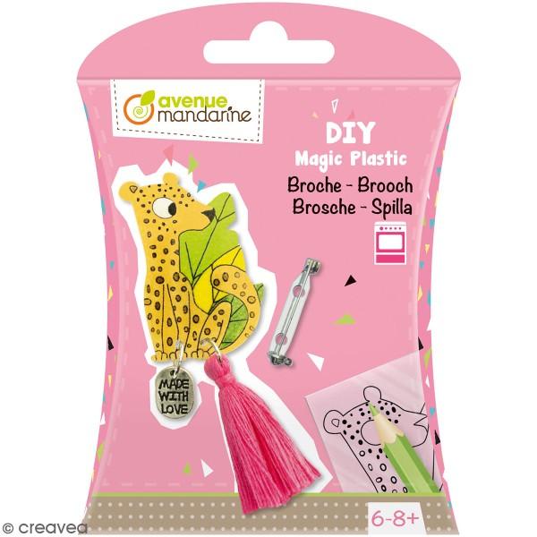 Kit DIY - Broche léopard - Photo n°1