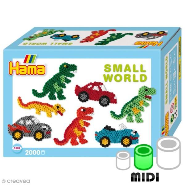 Kit Perles Hama Midi - Le petit monde des dinosaures - 2000 perles et accessoires - Photo n°1