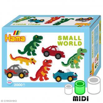 Kit Perles Hama Midi - Le petit monde des dinosaures - 2000 perles et accessoires