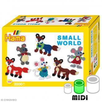 Kit Perles Hama Midi - Le petit monde des animaux - 2000 perles et accessoires