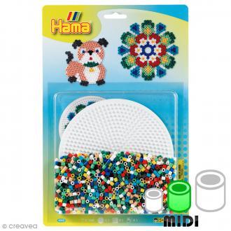 Kit Perles Hama Midi - Chien - 1100 perles et 1 plaque ronde