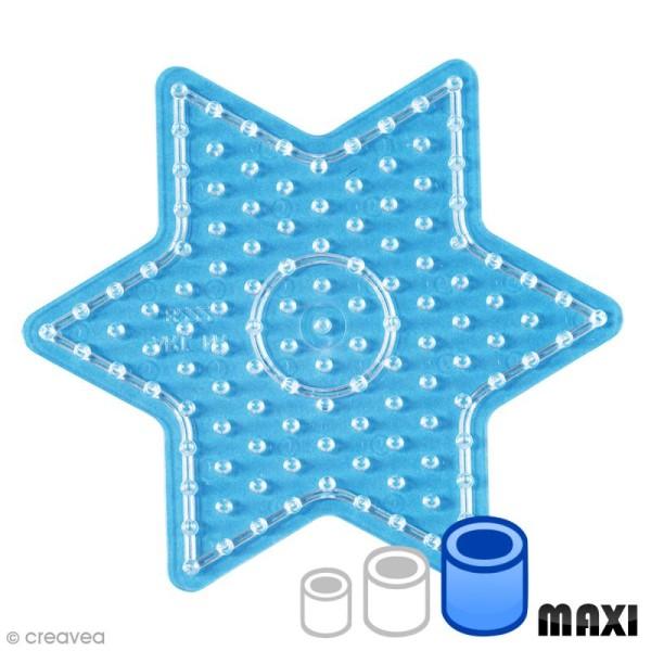 Plaque pour perles Hama Maxi - Etoile Transparente - Photo n°1