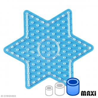 Plaque pour perles Hama Maxi - Etoile Transparente