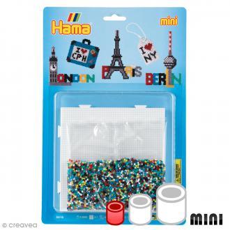 Kit Perles Hama Mini - Les capitales - 5000 perles et accessoires