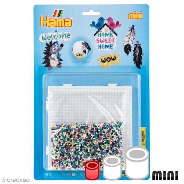 Kit Perles Hama Mini - Déco - 5000 perles et accessoires - Photo n°1