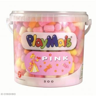 Seau PlayMais de 5L - Camaïeu de rose princesse