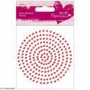 Strass autocollants - Rouge - 206 pcs