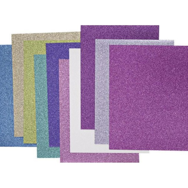 10 Pcs Carton A4 200g Glitr Mélange de Couleurs, de Carton, de l'Artisanat, Boîte en Carton, des Art - Photo n°1