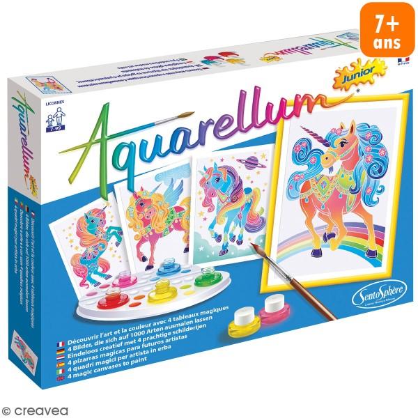 Jeu créatif Aquarellum Junior - Licornes - Photo n°1