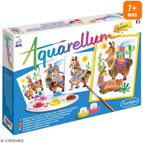 Jeu créatif Aquarellum Junior - Lamas - Photo n°1