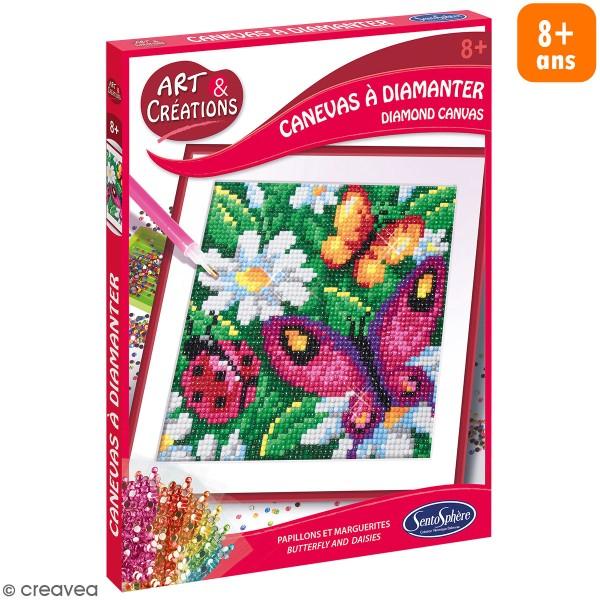 Coffret Art & Créations - Kit tableau diamant - Papillon et coccinelle - Photo n°1