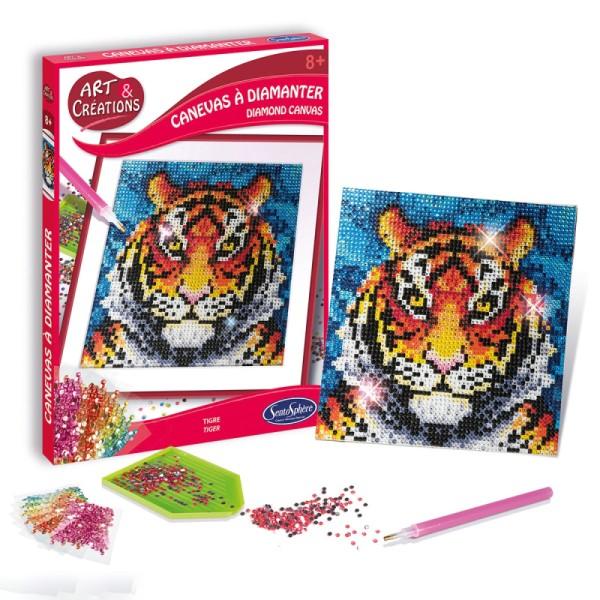 Coffret Art & Créations - Kit tableau diamant - Tigre - Photo n°2