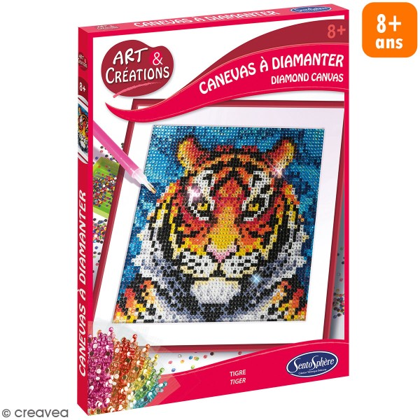 Coffret Art & Créations - Kit tableau diamant - Tigre - Photo n°1