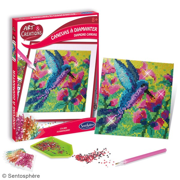 Coffret Art & Créations - Kit tableau diamant - Colibri - Photo n°2